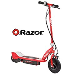 Now your kids can safely, quietly and effectively drive themselves with the Razor E100 Electric Scooter. Give your child the power to zip around the neighborhood, ride to the park or visit a friend at speeds up to 10 MPH with the most trusted...