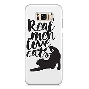 Samsung S8 Plus Case real men love cats Light weight Hard Shell Samsung Samsung S8 Plus Cover Wrap Around