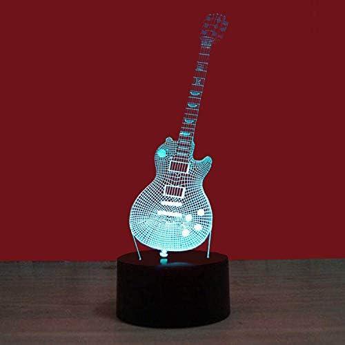 3D Lámparas Ilusión Óptica Lámpara, Guitarra 002 7 colores ...