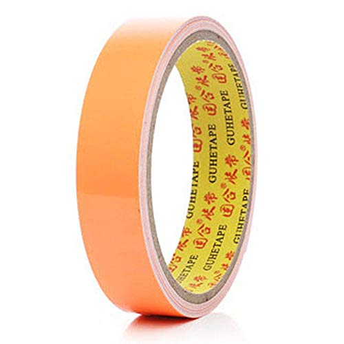 - JACKBAGGIO 6 Colors New Self-Adhesive Fluorescent Tape Self-Illuminating Luminous Strip Warning Light Tape for Home Decoration, Safety Standard, Road Guidance 20mm Width,3m Length (Orange)