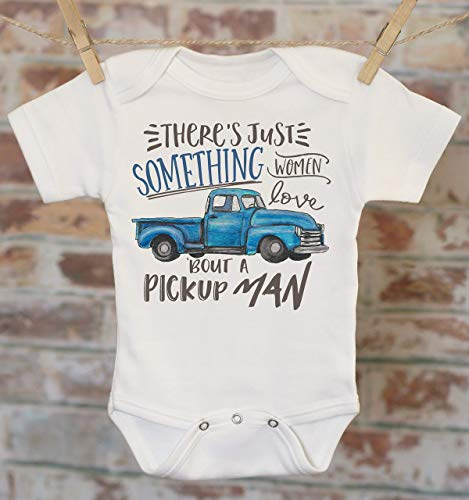 Blue Pickup Truck Onesie®, Classic Truck Onesie, Cute Boys Clothes, Baby Shower Gift, Funny Baby Clothes, Baby Boy Outfit ()