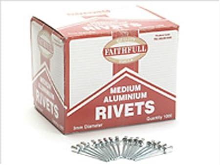 Import Grande Bretagne Faithfull Bo/îte de 1000 Rivets Aluminium 4 mm Grands