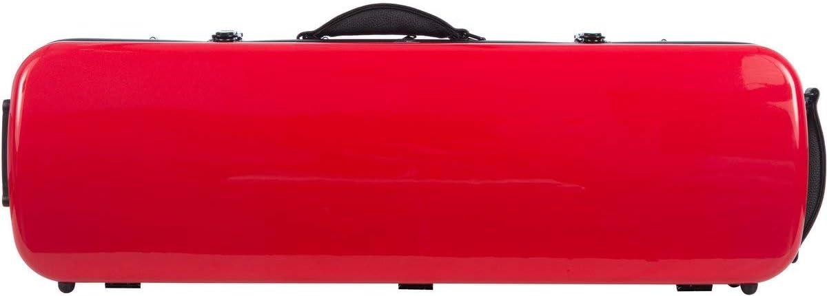 Estuche para violín fibra Oblong 4/4 red - navy blue M-Case: Amazon.es: Instrumentos musicales