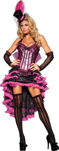 InCharacter Costumes Women's Burlesque Beauty Costume, Pink/Black, Medium