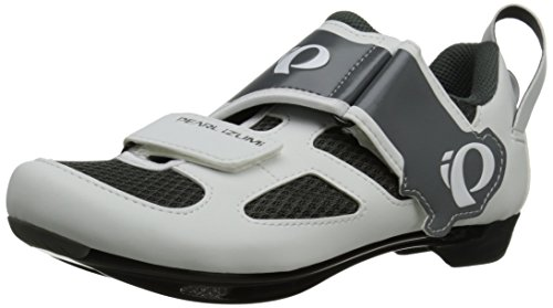 Pearl Izumi Women's W Tri Fly V W/b Tri Cycling Shoe, White/Black, 37 EU/6 B US