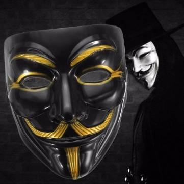 Black Anonymous Mask V for Vendetta Guy Halloween Men Cosplay Costume Collectors by Completestore (Diy Baby Monster Halloween Costume)