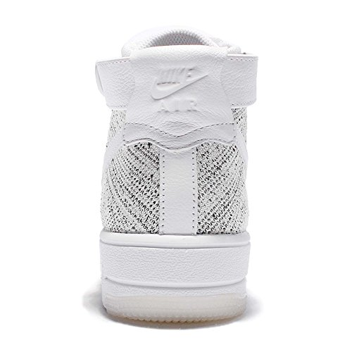 Nike Womens Af1 Flyvåpenet En Flyknit Hi Topp Trenere 818018 Joggesko Sko Hvit-grå