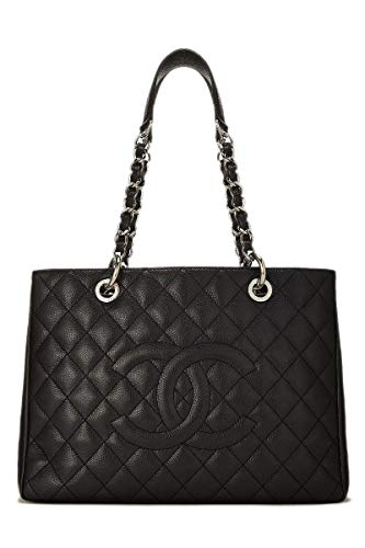 CHANEL Black Quilted Caviar Grand Shopping Tote (GST) (Pre-Owned)