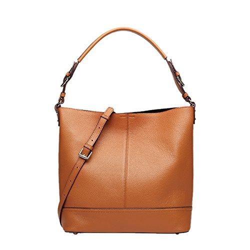 Q0889 Fashion Brown Leather Shoulder Dissa 30X12X31CM Handbag Casual LxWxH Bag Women p4wcdqF