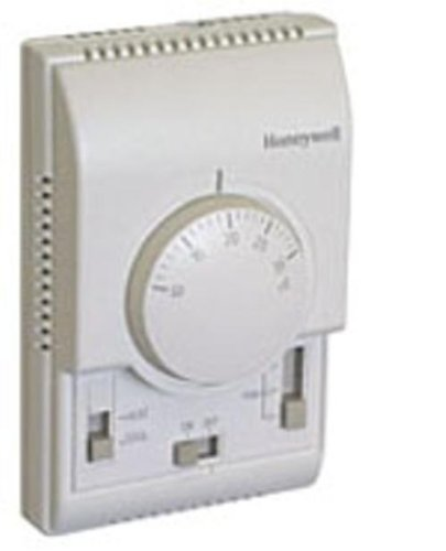 Honeywell T6371B1017 - Termostato Analógico Fan Coil On-Off, Ventilador 3 Veloc, Calor