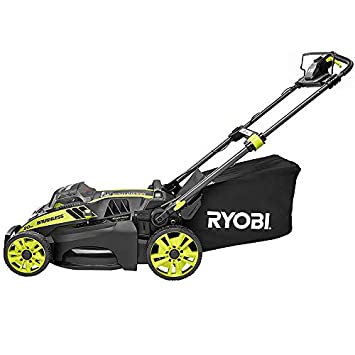 Ryobi. 20 RY40190 40-Volt Brushless Lithium-Ion Cordless Battery Self Propelled Lawn Mower with 5.0 Ah Battery and Charger Included