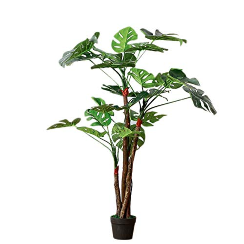 BingWS Artificial Topiaries Nordic Large Artificial Tree Green Plant Indoor Simulation Plant Turtle Back Leaf Artificial Plant Decoration Fake Flower Pot 120cm Home Décor