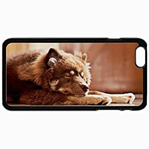 Customized Cellphone Case Back Cover For iPhone 6 Plus, Protective Hardshell Case Personalized Dog Home Comfort Black