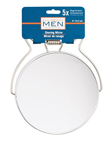 All About Men Chrome Shaving Mirror, 5x Magnification Shaving Mirror