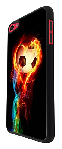 1484 - Cool Fun Trendy sports goal soccer football fire win champions Design For Apple ipod Touch 6 Fashion Trend CASE Back COVER Plastic&Thin Metal - Black