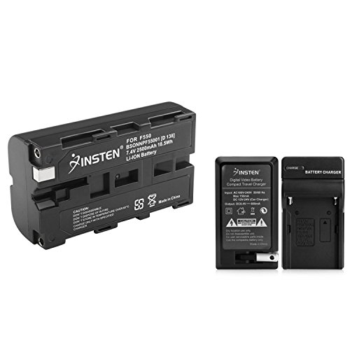 NEW Charger + 2 Battery for Sony Mavica MVC-FD92 NP-F550 CCD-TRV87 CCD-TRV88 CCD-TRV90 CCD-TRV91 CCD-TRV93 CCD-TRV95 CCD-TRV98 CCD-TRV99 + Car - Battery Sony Mavica