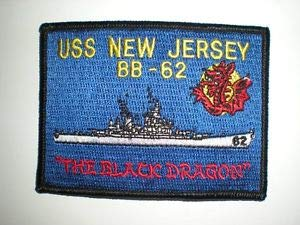 US Navy USS New Jersey BB-62 Patch -Color by HighQ - Jersey Bb Usa
