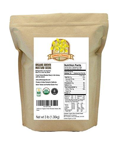 Organic Mustard Anthonys Non GMO Verified product image