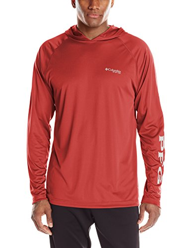(Columbia Sportswear Terminal Tackle Hoodie, Sunset Red, White Logo, XX-Large)
