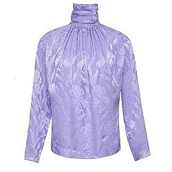 Nina Ricci Purple Silk Jacquard Blouse