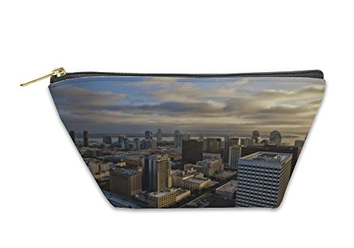 Gear New Accessory Zipper Pouch, San Diego California At Dusk Skyline Of Downtown, Small, - Diego Downtown Stores San