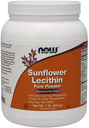 NOW Supplements, Sunflower Lecithin with Naturally Occurring Phosphatidyl Choline and Other Phosphatides, Powder, 1-Pound