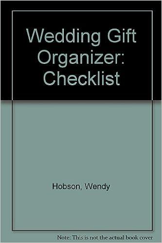 wedding gift organizer checklist wendy hobson 9780572015954