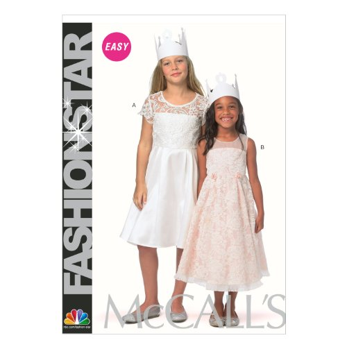 McCall Pattern Company M6829 Children's/Girls' Dresses Sewing Template, Size CCE