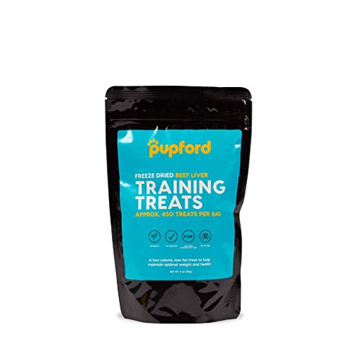 Freeze-Dried Beef Liver Training Treats, 450 Treats Per Bag, Low Calorie, The Perfect High Value Training Reward