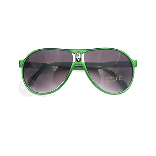 GMAT Fashion Style Classic Aviator Polarized Drving Sunglasses For Kids Green Frame