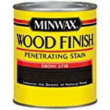 Minwax 70013444 Wood Finish Penetrating  Stain, quart, Ebony