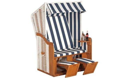 Sunny Smart Strandkorb Rustikal 50 Basic Stoff-Nr. 1080, Halbliegemodell