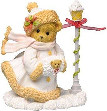 Enesco Cherished Teddies Collection Bear/Hat/Scarf/Muff Figurine, 4.125-Inch