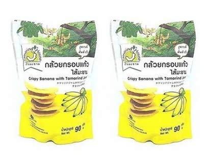 Tamarind House Crispy Banana with Tamarind Jam 90 g. (Pack of 2)