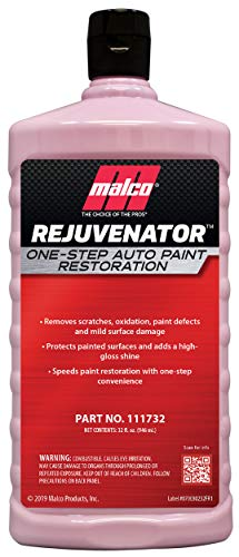 Malco Rejuvenator One Step Auto Paint Restoration 32 fl oz 111732 (Best Car Wax For Faded Paint)