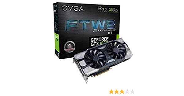 Amazon.com: EVGA NVIDIA GeForce GTX 1070 FTW2 DT Gaming 8GB GDDR5 DVI/HDMI/3DisplayPort PCI-Express Video Card w/ iCX - 9 Thermal Sensors & RGB LED G/P/M: ...