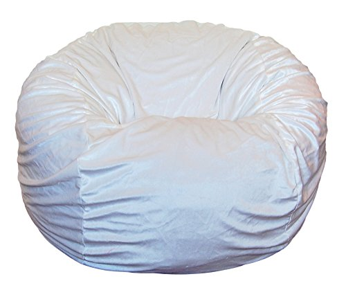 Ahh! Products Cuddle Minky White Washable Large Bean Bag Chair by Ahh! Products