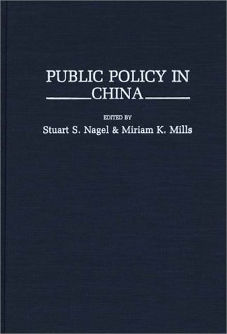 Public Policy in China (Contributions in Political Science)