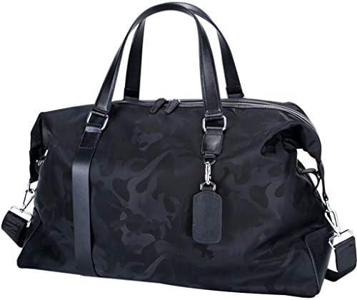 トラベルバッグ多目的ゴルフの服バッグメンズポータブルマルチ機能の屋外スポーツ荷物バッグ防水ナイロン大容量デザインブラック HMMSP (Color : Black)