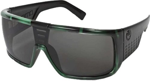 Dragon Alliance Dragon Sunglasses Domo Large Fit Eyewear Men's Casual Shades - Green Stripe/Grey/One Size Fits All