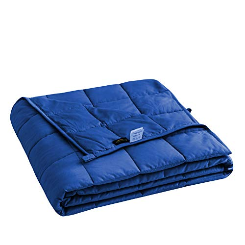 Cheap Cozynight Weighted Blanket 20Lbs (60 x80 Royal Blue Queen Size) Heavy Blanket with Weighted Glass Beads Release Stress and Give You a Deep Sleep in The Night Black Friday & Cyber Monday 2019
