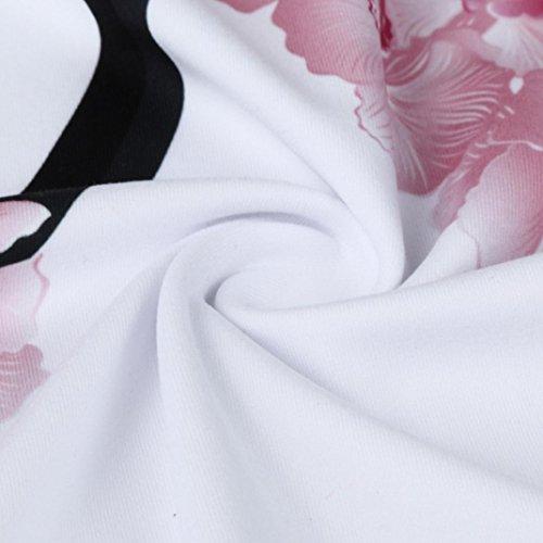 A Estivi T Floreale Maniche In Cotone Con Maglietta Top Donna A Viola Eleganti Maglia Maniche Stampa Shirt Yanhoo Corte Donna Camicia Corte Rxvq0IIwB