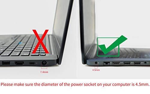 Original Dell 65W AC adapter for Dell Inspiron 13 7000 Series 2-in-1, Dell Inspiron 15 7000 Series 2-in-1 Touch.