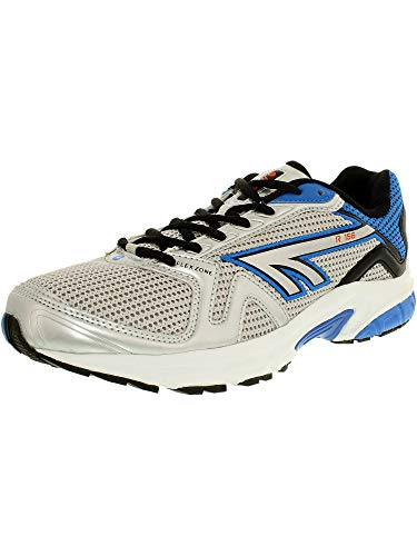 Hi-Tec Men's R156 White/Silver/Blue Ankle-High Running Shoe - 9M ()