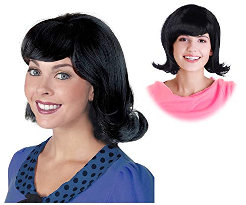 60s Black Flip Jackie Kennedy Costume Wig 50s Wig For Women Lucy Wig for $<!--$24.99-->