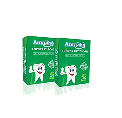 Amazing Temporary Tooth # 1 Replacement Tooth Repair Kit Now with 25% More Material 2 Pack by Amazing Temporary Tooth