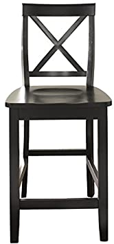 Crosley Furniture CF500424-BK X-Back Bar Stool Set of 2 , 24-inch, Black
