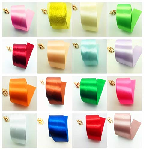 Amazon.com: 50 Mm - 5yards 2inch 50mm Satin Ribbon Ribbon for Wedding Party Christmas Decoration Handmade DIY Gift: Health & Personal Care