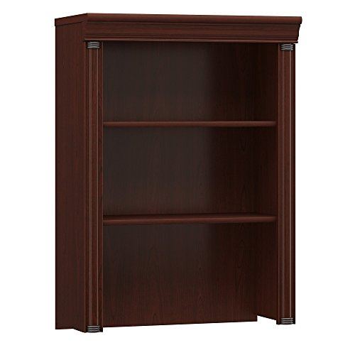Bush Furniture Birmingham Hutch for Lateral File Cabinet in Harvest Cherry