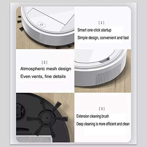 AFF Aspirateur Robot Mince 2,6 Pouces 1200 Pa Aspiration Forte USB Rechargeable Aspirateur robotique Aspirateurs humides-secs pour Poils d\'animaux/Sol Dur